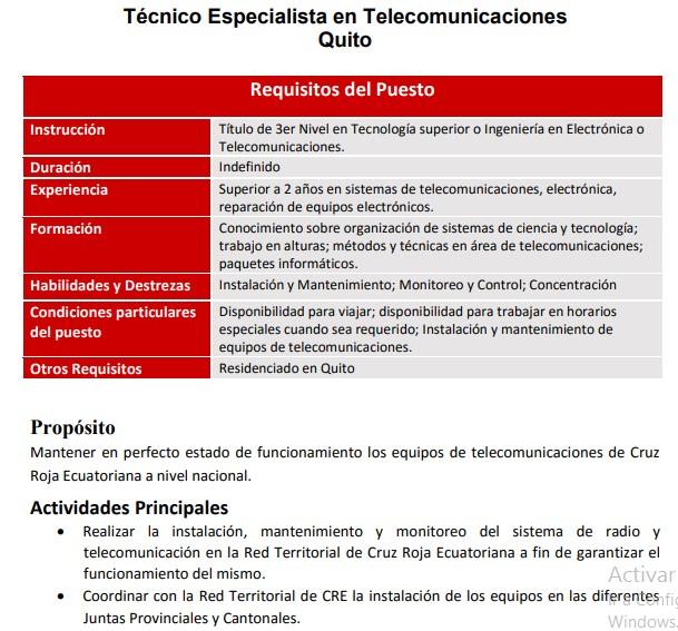 CRUZ ROJA OFERTA VACANTES DISPONIBLES Consulta Empleos